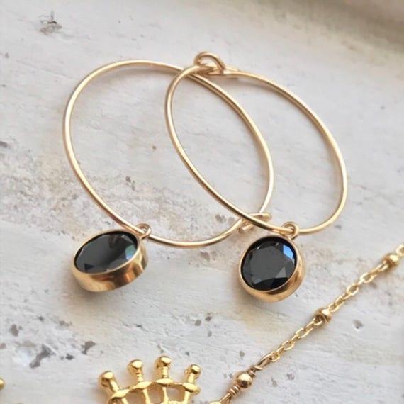 Hoops Earrings, gold hoop earrings