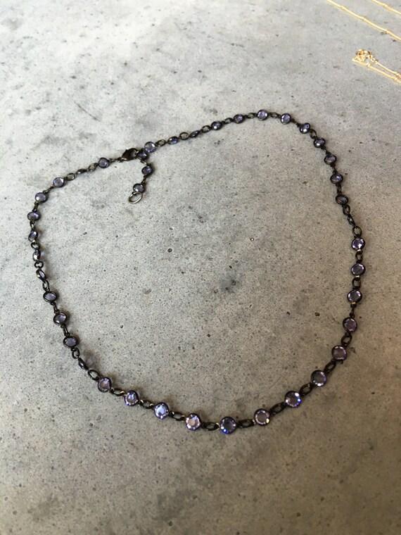 Choker necklace, cystal chocker, boho jewelry