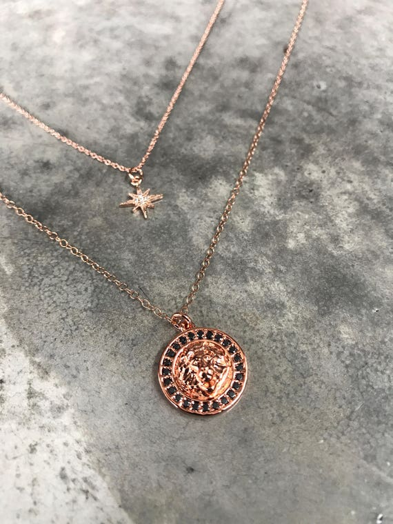 Leo Zodiac Necklaces, constellation jewelry, star necklace