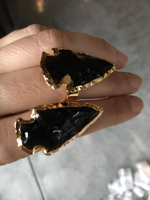 Arrowhead rings, boho jewelry, statement rings