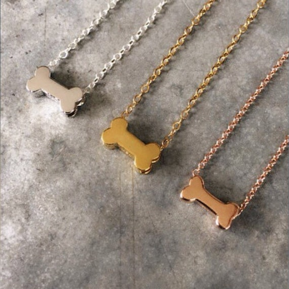 Tiny Silver Dog Bone Necklace