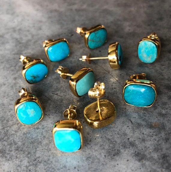 Turquoise earrings, turquoise jewelry, boho earrings, silver turquoise, gold turquoise, birthstone jewelry, December birthday