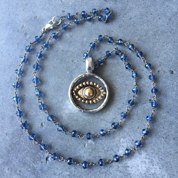 Hamsa evil eye necklace