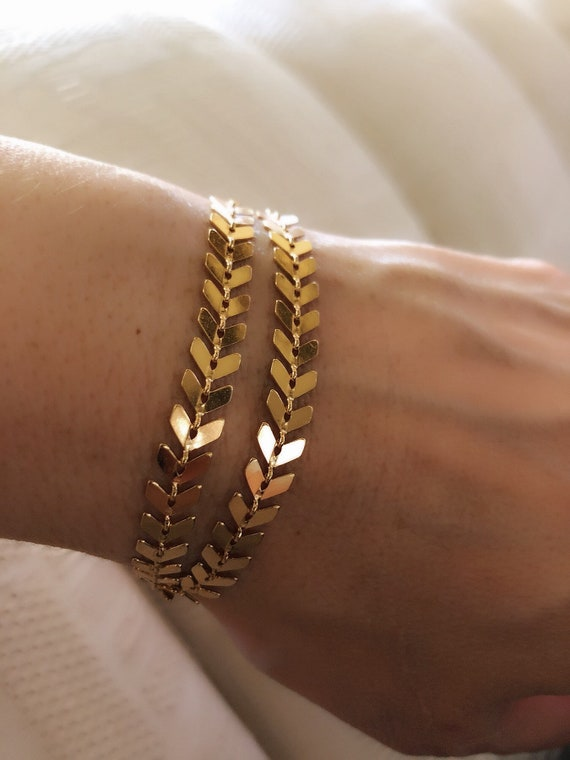 Gold bracelet, bracelet wrap, boho wedding
