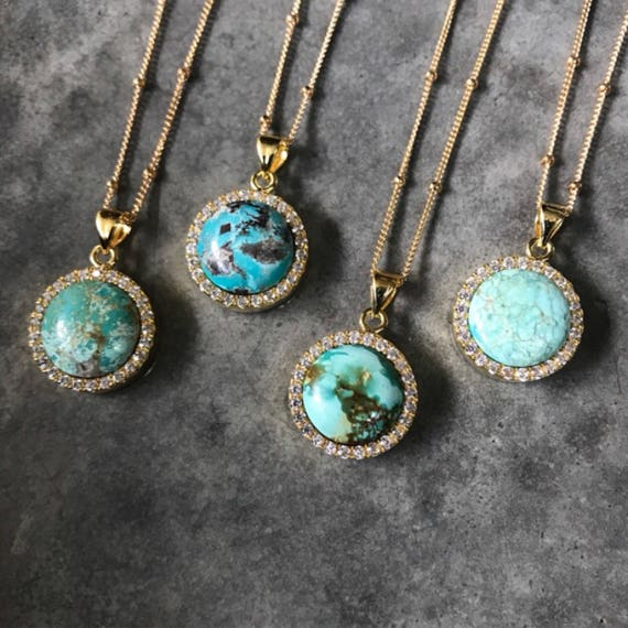 Turquoise Necklaces, Turquoise jewelry, birthstone jewelry, December Birthstone Necklaces