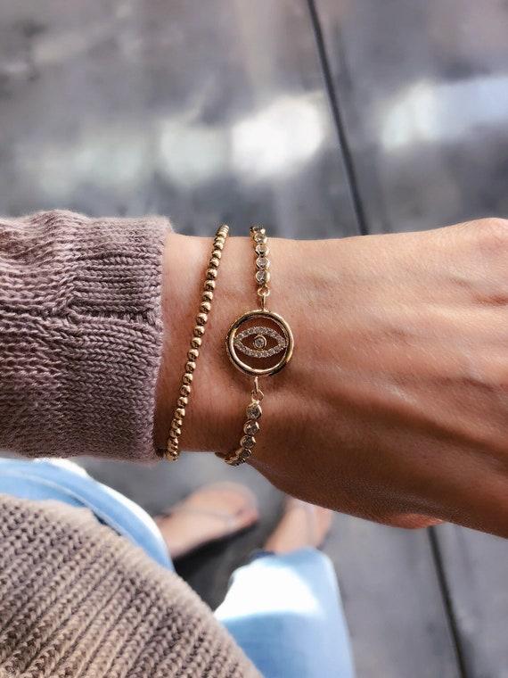 Evil Eye Bracelet, boho jewelry
