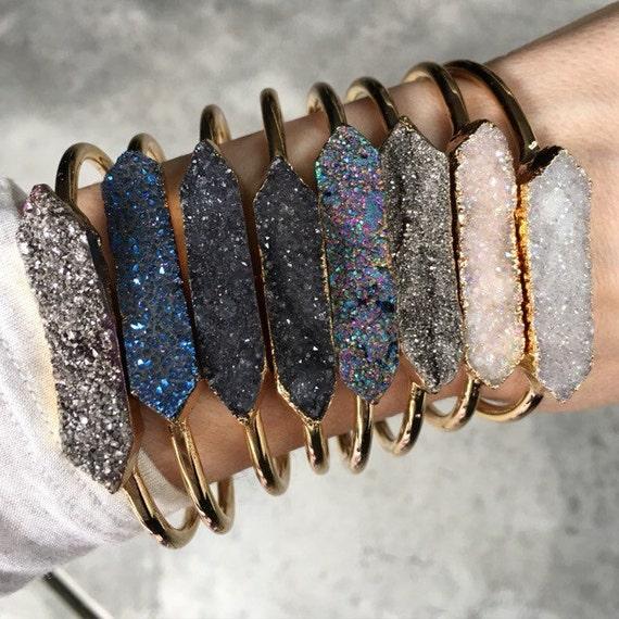 Druzy Cuff Bracelets