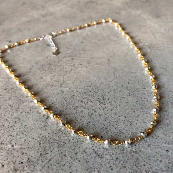 Pyrite choker necklace