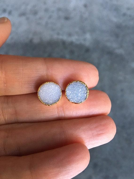 Druzy Earrings, Druzy Studs, Druzy Stud Earrings