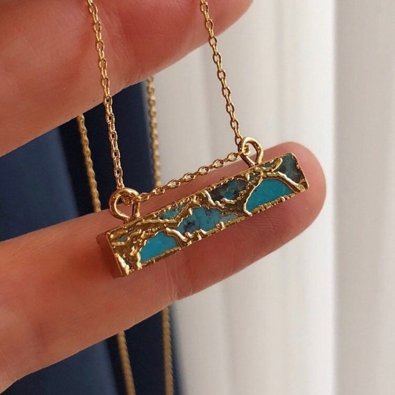 Turquoise necklace, birthstone necklace December birthday