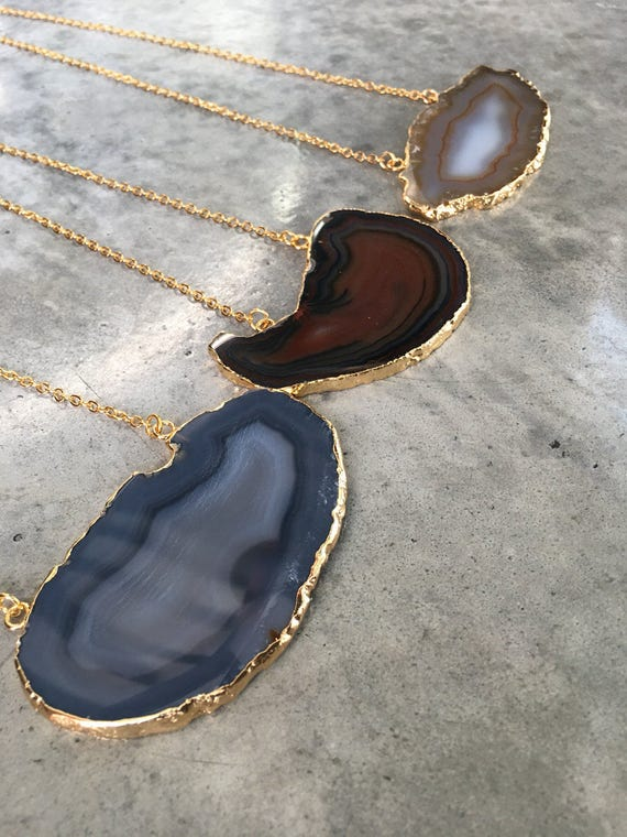 Sliced Agate Necklaces