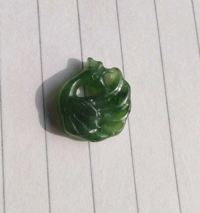 Carved jasper Beads Natural Nephrite jade,Green jasper Earrings Jade pendants,Carved Phoenix Beads AG