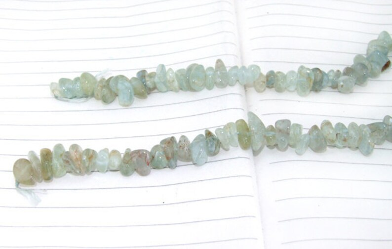 --- --- about 100Pieces 16 in length gemstone beads-- 7mmx10mm Full Strand Natural Nugget  Aquamarine Beads ---