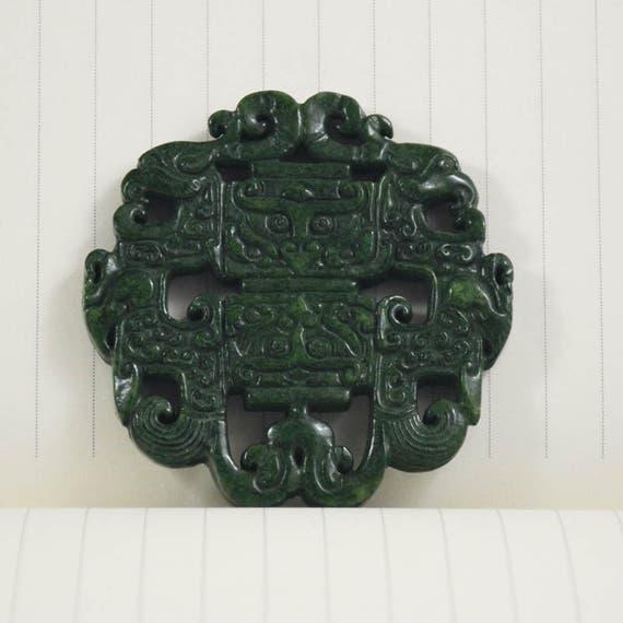 Chinese natural Hetian jade pendant Rat talisman