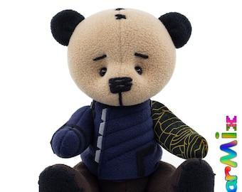 Bucky Winter Soldier bear Infinity War- marvel avengers superhero movie comic plush toy avengers bucky barnes cosplay