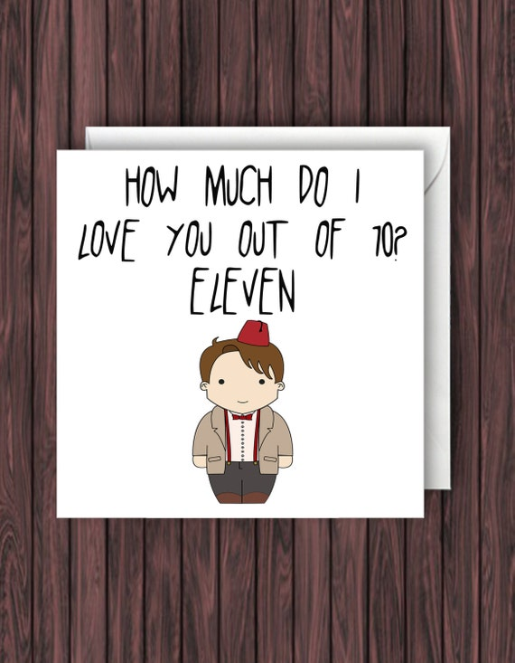 doctor who valentines day card 11th doctor card eleventh etsy