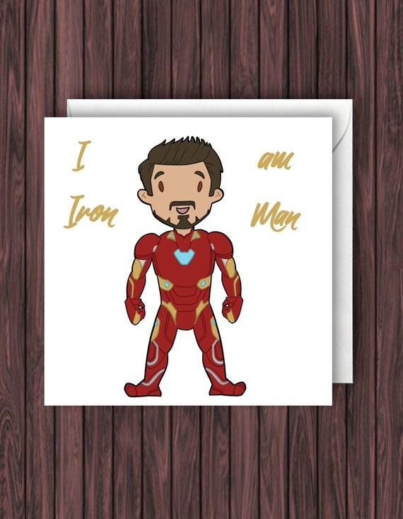 Iron Man Birthday Card Marvel Funny