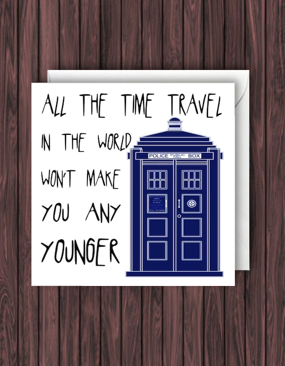 Doctor Who Birthday Card Funny Birthday Card Geek Birthday Etsy