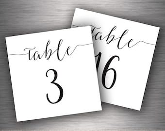 Table Number 1 30 Etsy