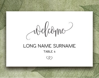 gold place card template wedding place cards printable etsy