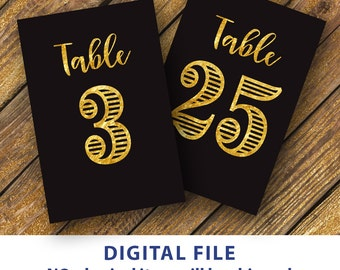 31 60 printable table numbers 4x6 gold and black table number etsy