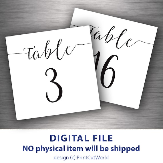 Small Table Numbers 7