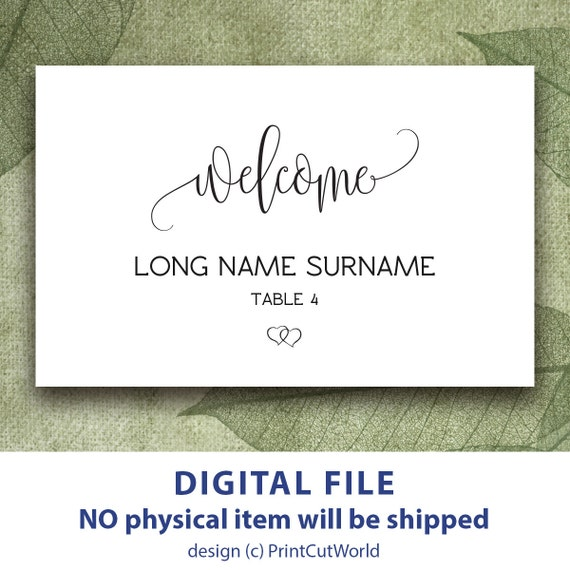 graphic about Printable Name Cards titled Welcome Issue playing cards printable Tent Space card for marriage ceremony Custom made Escort card template Wedding ceremony reputation tags Do it yourself Ground breaking Minimalist