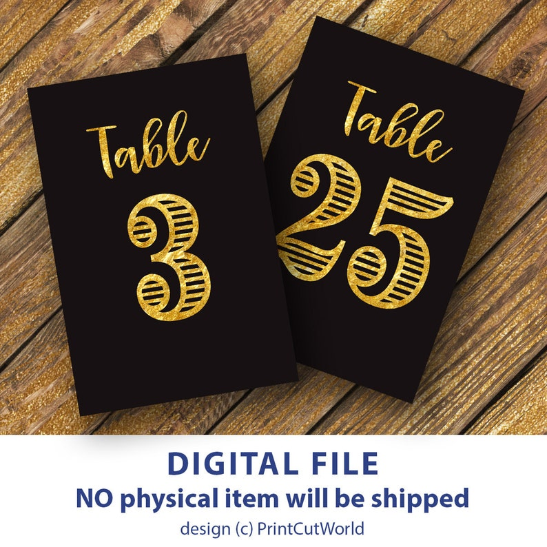 graphic regarding Free Printable Table Numbers 1 30 named Black and gold Desk quantities 4x6 Marriage desk amount printable 1-30 Immediate obtain Ambitious quantities Black historical past desk quantities