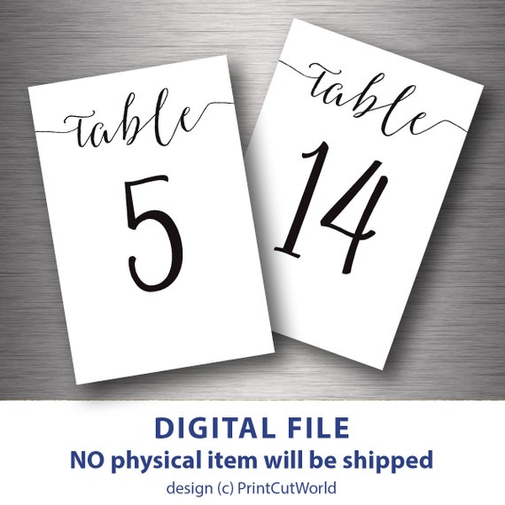 nr 31 60 table numbers printable 4x6 classic wedding table etsy