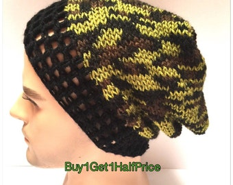 67a917bc71a BUY1GET1HalfPRICE Camouflage beanie hat army Designer mans mens unisex  crocheted knitted oversized slouch beanie snood hat