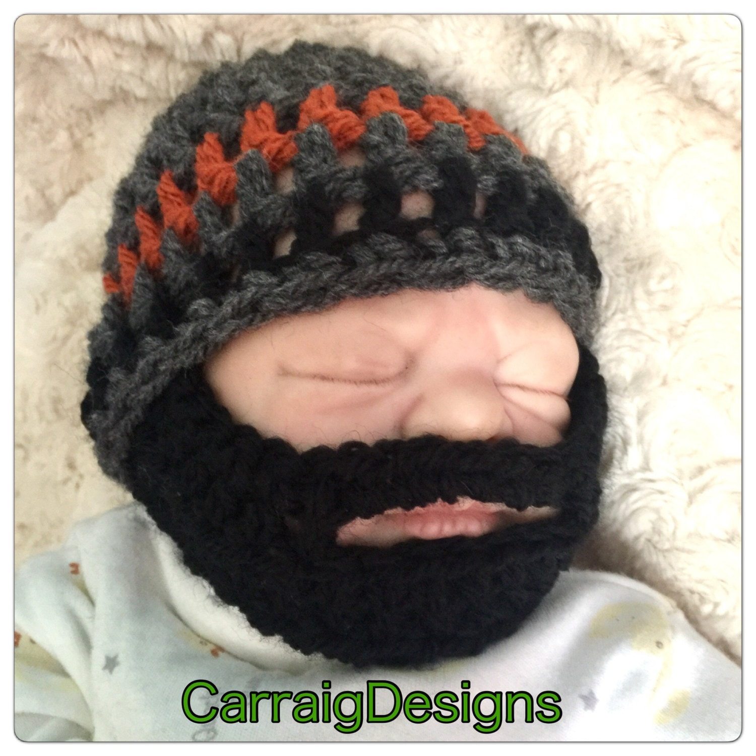 fac5f07d1e2 Baby boy beard black crocheted knitted hippie hippy boho FITTED or SLOUCH  beanie unique designer kids newborn shower gift bearded lumberjack