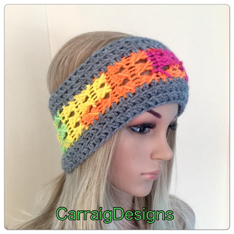 Designer Unique Headband Womens Teens Hand Crocheted Knit Dread Tube