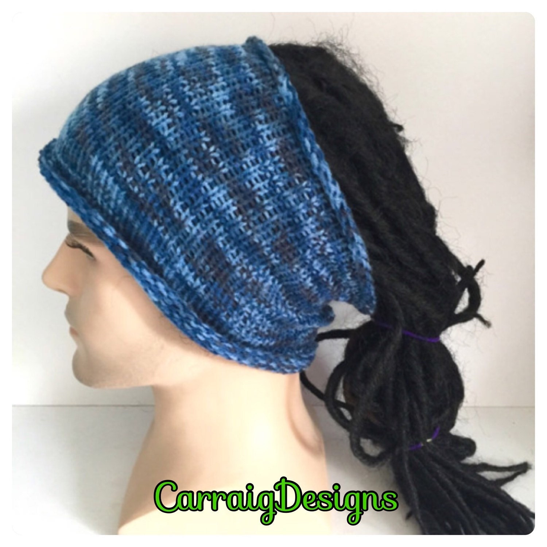 Designer Dreadlock Headbandmans Mens Unisex Guy Hand Crocheted