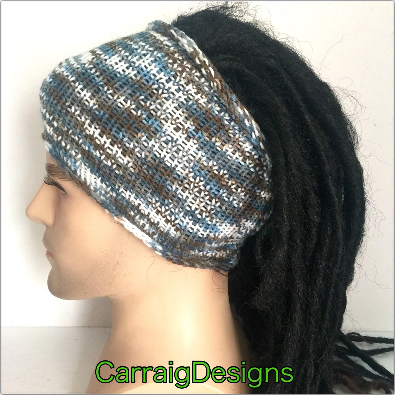 Designer dreadlock headband mans mens unisex guy hand crocheted knitted  dread tube wrap b13f2ec52bc7