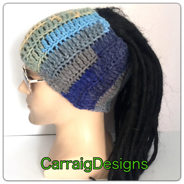 Dread Band Earthy Dreadlock Headband Mans Mens Unisex Hand Crocheted