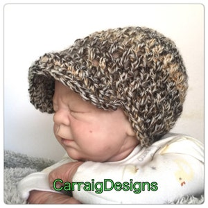 a24e94cbc94 ... 50% off peaked hat baby boy 0 3 months newsboy baseball cap crochet  knitted hippie