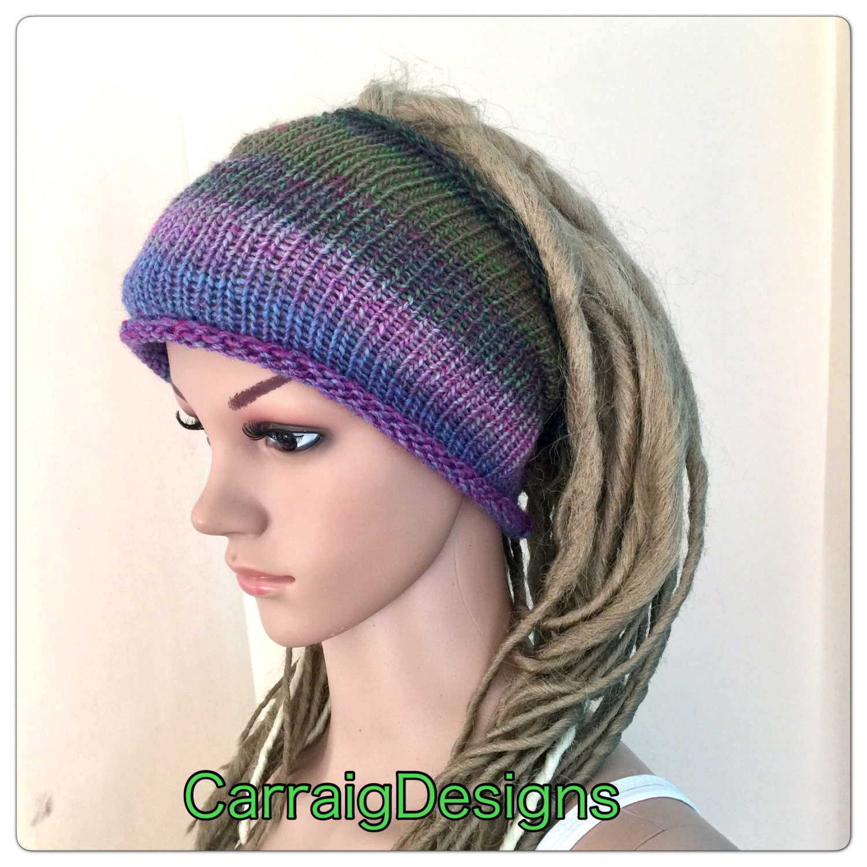Dreadlock Headband Womens Teens Yoga Hand Knitted Dread -5288
