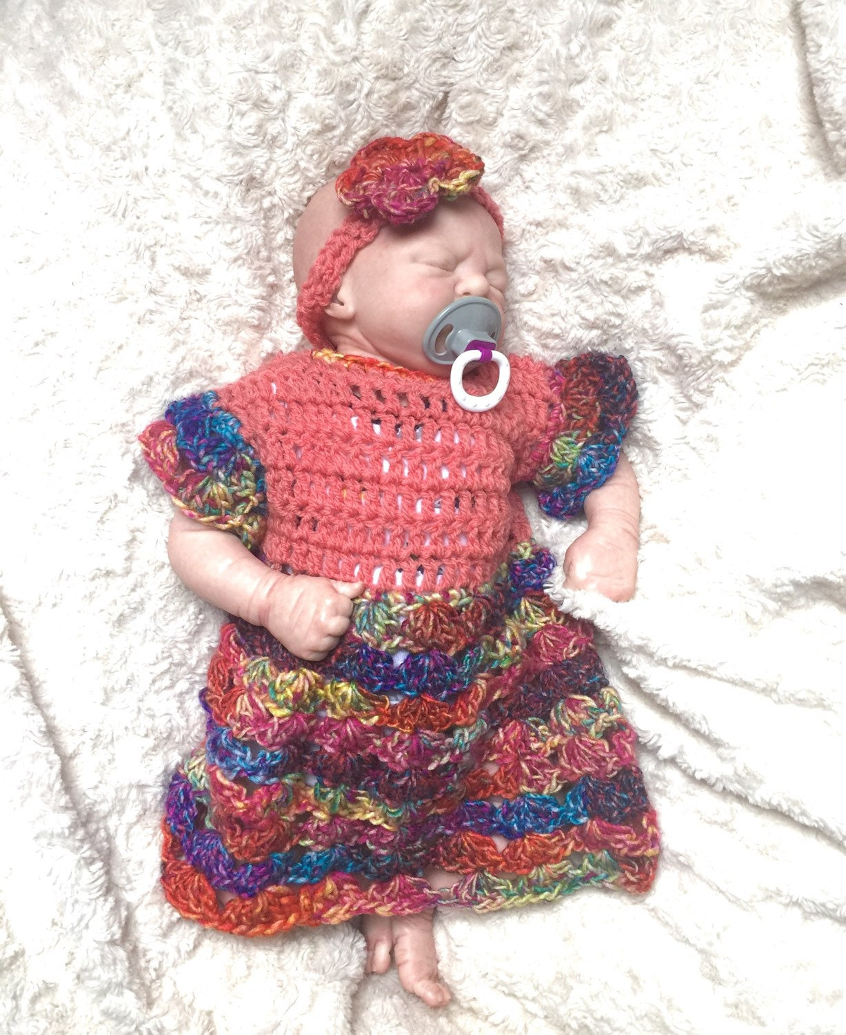 1446ae127fd0 0-3 months Baby girl crocheted