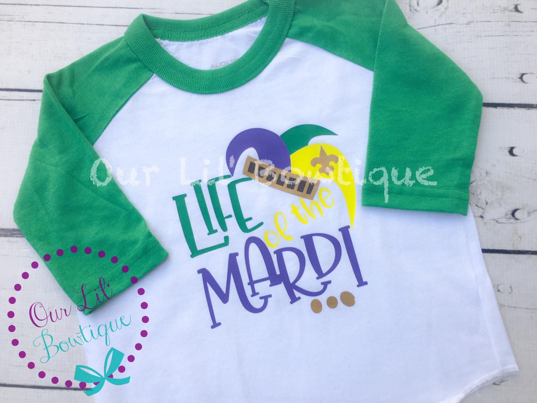 3c578234b Mardi Gras Shirt Life of thr Mardi Raglan Mardi Gras | Etsy