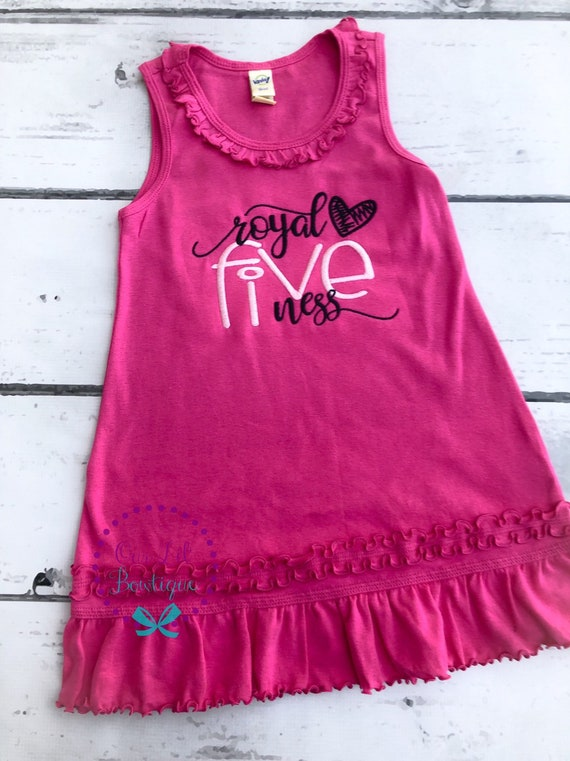 Royal Fiveness Birthday Outfit Five Pink And Black Fifth Birthday Outfit Royal Five Ness Birthday Dress Royal Birthday 5th Birthda By Our Lil Bowtique Catch My Party