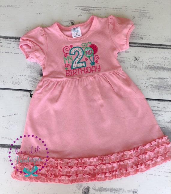 b9182fc02 Girls Birthday Dress - Birthday Shirt - Personalized Birthday - My 1st  Birthday - My 2nd Birthday Shirt - Birthday Balloons - Balloon Shirt