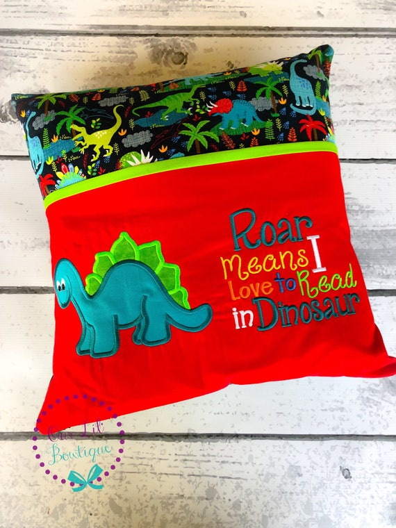 Dinosaur Throw Pillow (With images