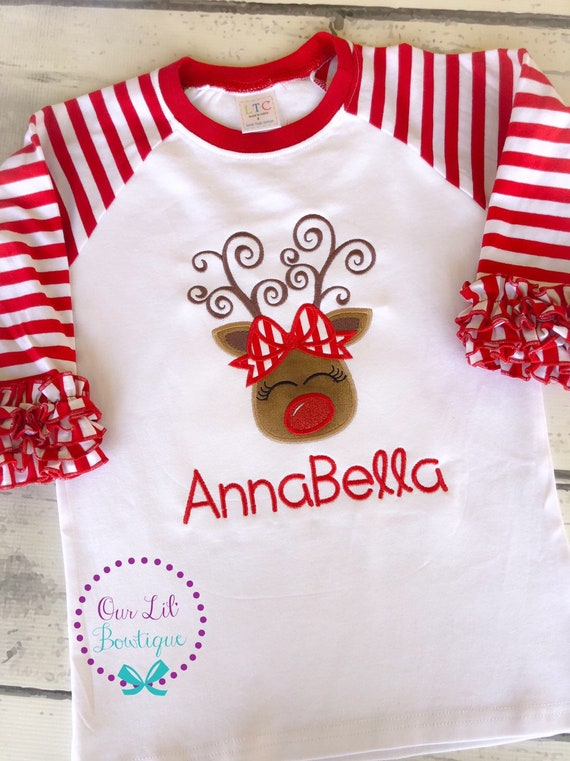 Cute Reindeer Outfit For Christmas Toddler//Kids Sweatshirt Girls Boys