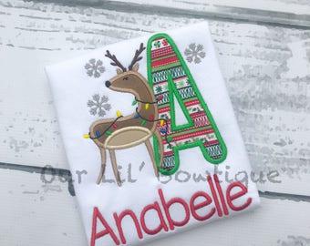Christmas Shirt - Deer Christmas Shirt - Personalized Christmas Shirt - Deer Shirt - Christmas Shirt - Reindeer Shirt