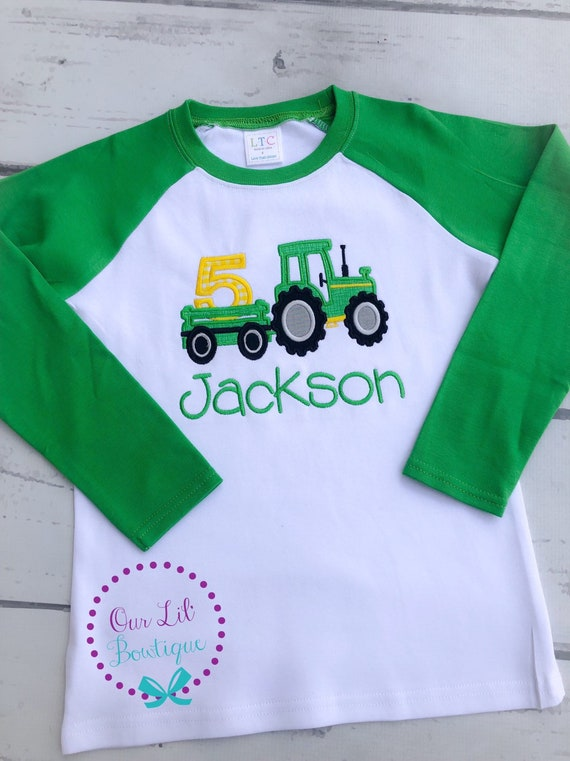 Tractor Birthday Shirt Tractor Shirt Birthday Shirt Boy Birthday Shirt White Tractor Birthday Shirt Personalized Birthday Shirt Kids T-Shirt