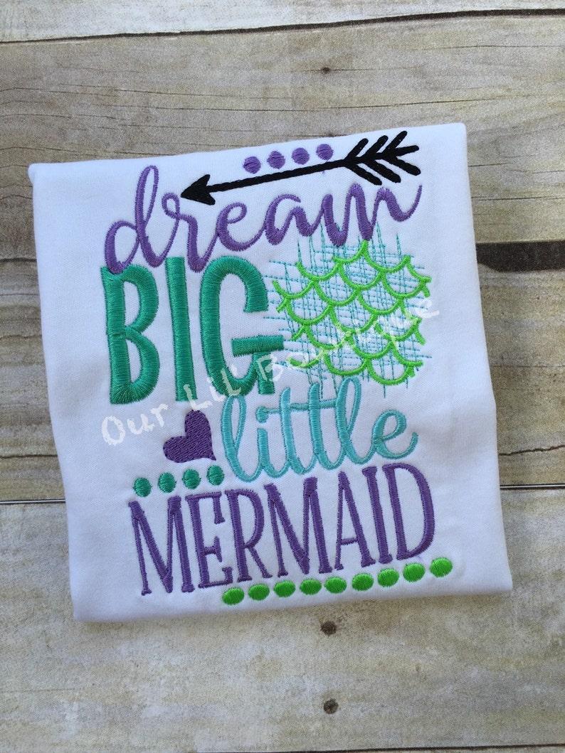 17913030a499 Mermaid Outfit Mermaid Birthday Dream Big Little Mermaid | Etsy