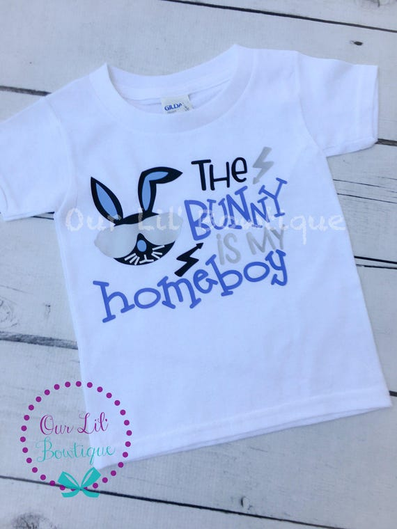 The Bunny Is My Home Boy Boy Bunny Shirt Easter Shirt | Etsy