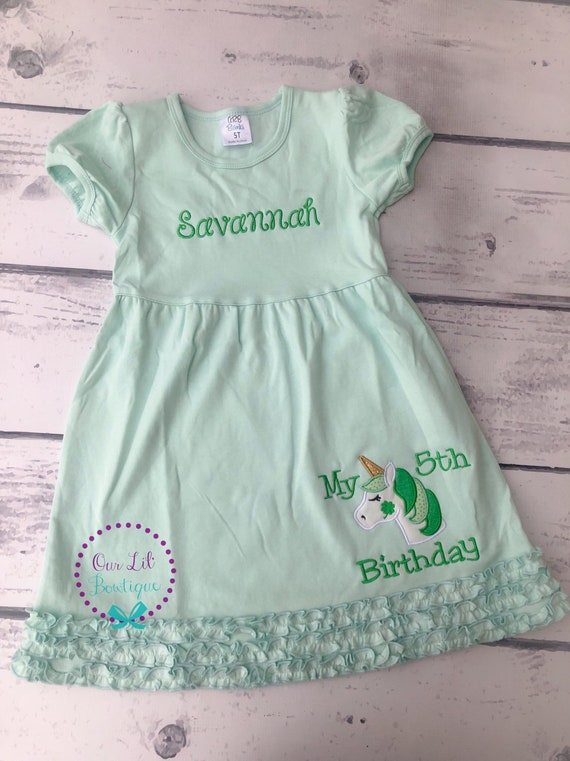 Patrick/'s Day Applique Shirt Girl/'s Birthday St
