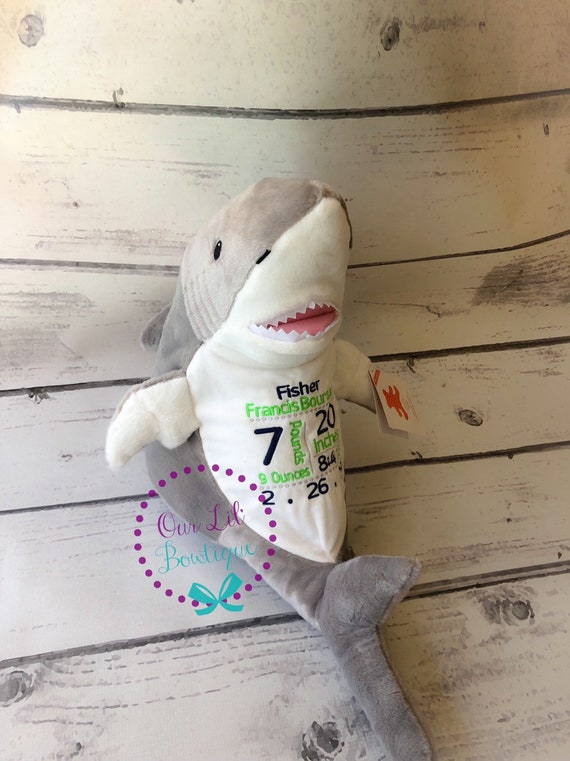 Personalized Baby Stuffed Animals, Personalized Stuffed Animal Subway Art Baby Gift Personalized Cubbie Birth Announcement New Baby Personalized Baby Gift Shark By Our Lil Bowtique Catch My Party