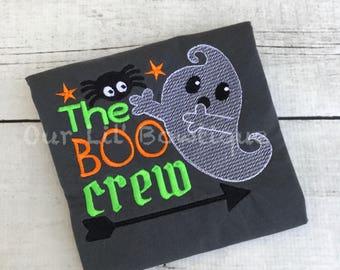 The Boo Crew Halloween Shirt - Halloween Shirt - Boys Halloween Shirt - Spider Shirt - Ghost Shirt - Personalized Halloween Shirt